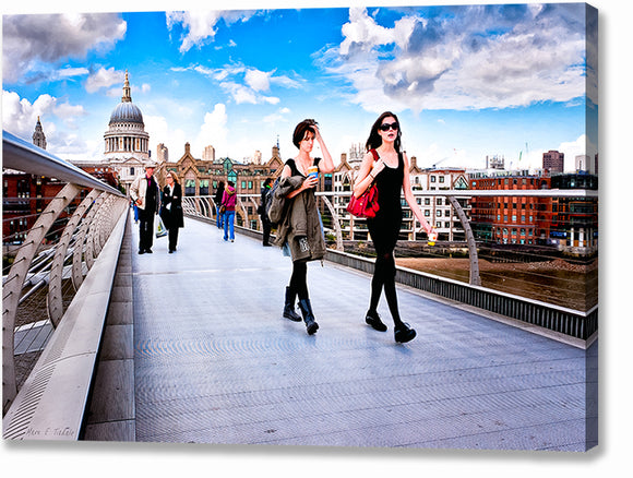 On The Move - London Street Photography Canvas Print