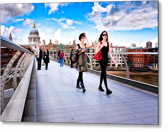 On The Move - London Street Photography Metal Print