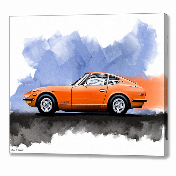 Orange Datsun 240Z - Classic Car Canvas Print