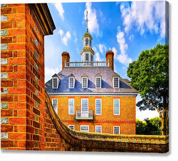 Palace Walls - Colonial Williamsburg Canvas Print