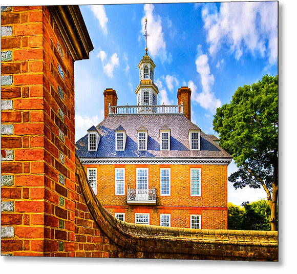 Palace Walls - Colonial Williamsburg Metal Print