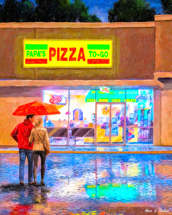 Papa's Pizza To Go - Montezuma Georgia Art Print