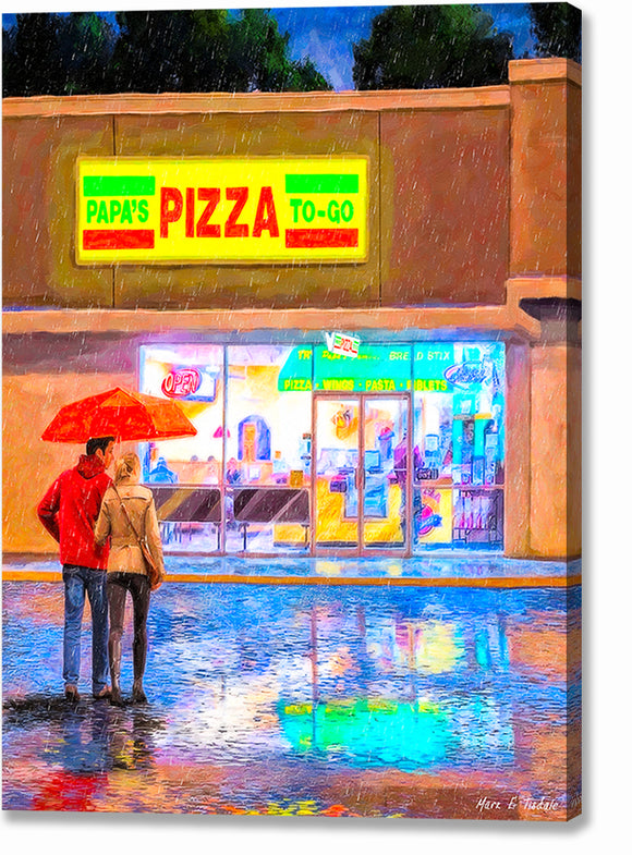 Papa's Pizza To Go - Montezuma Georgia Canvas Print