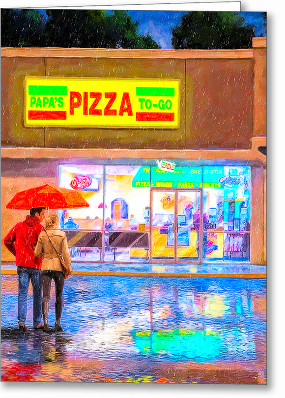 Papa's Pizza To Go - Montezuma Georgia Greeting Card