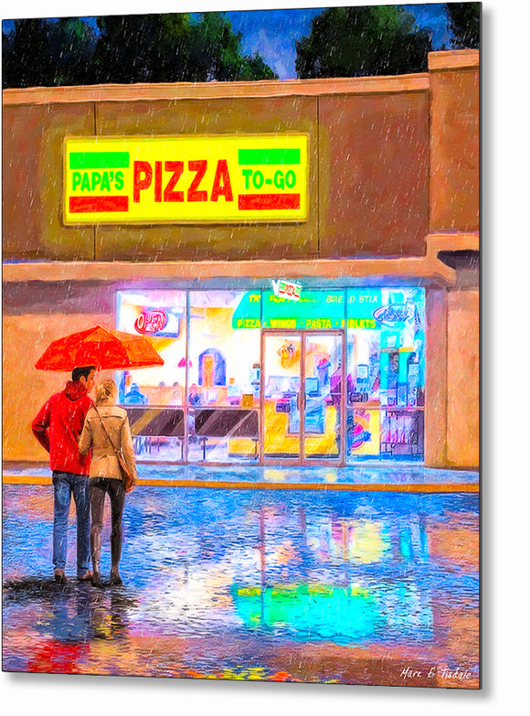 Papa's Pizza To Go - Montezuma Georgia Metal Print