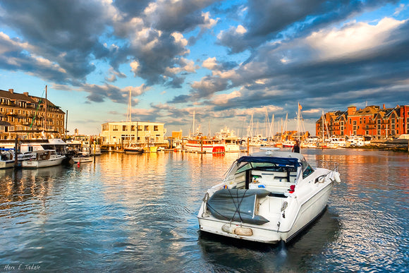 Peaceful Evening - Boston Waterfront Art Print