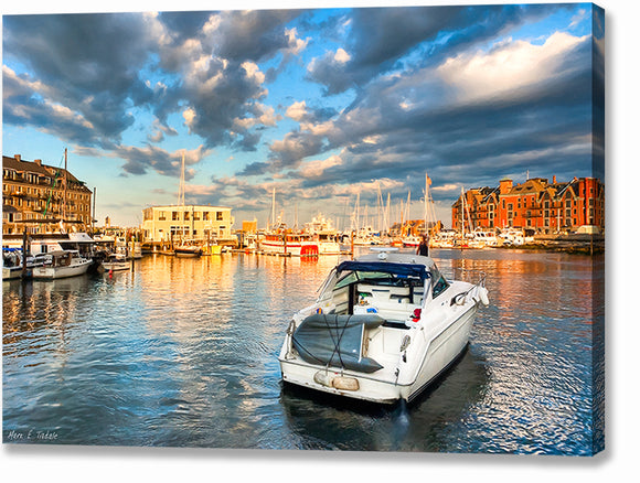 Peaceful Evening - Boston Waterfront Canvas Print