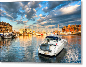 Peaceful Evening - Boston Waterfront Metal Print