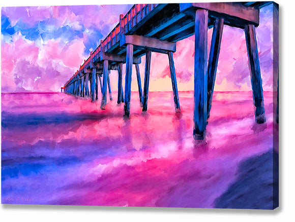 Pensacola Beach Pier - Florida Canvas Print