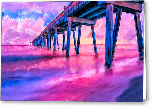 Pensacola Beach Pier - Florida Greeting Card