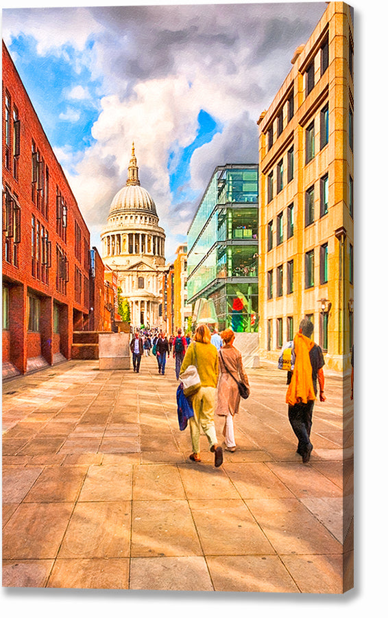 Peter's Hill View of St. Paul's Cathedral - London Canvas Print