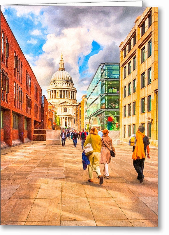 Peter's Hill View of St. Paul's Cathedral - London Greeting Card