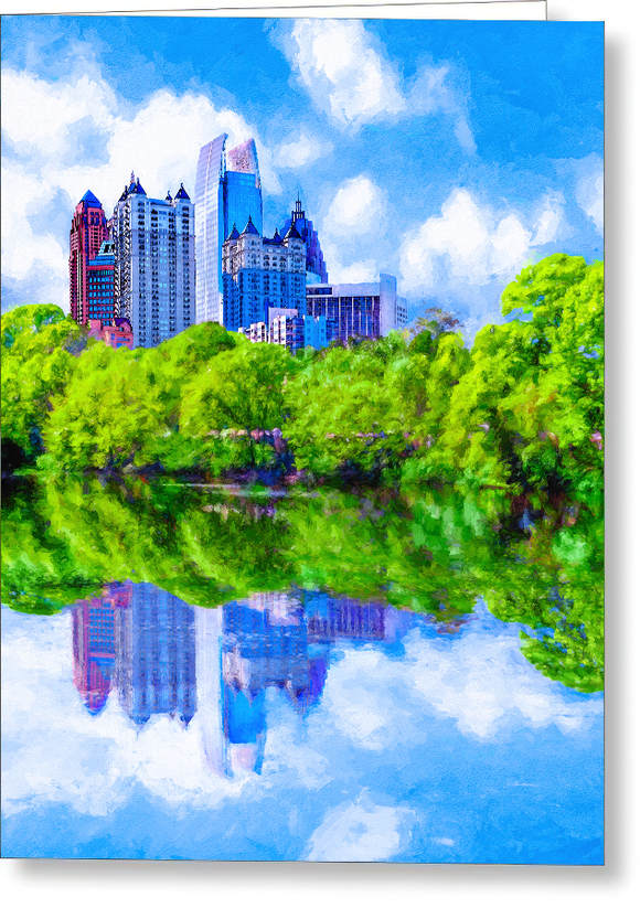 Piedmont Park Skyline - Atlanta Greeting Card