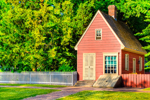 Pink Tiny House - Colonial Williamsburg Art Print