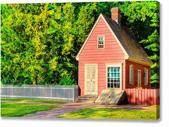 Pink Tiny House - Colonial Williamsburg Canvas Print