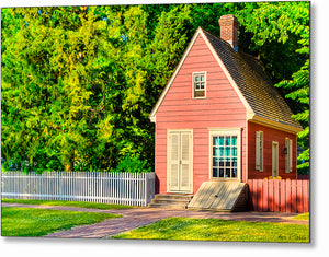 Pink Tiny House - Colonial Williamsburg Metal Print