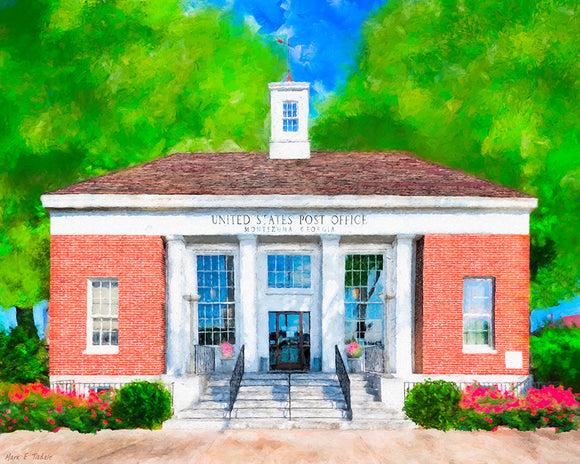 Post Office - Montezuma Georgia Art Print