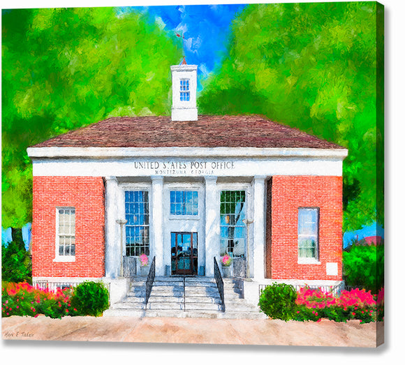 Post Office - Montezuma Georgia Canvas Print