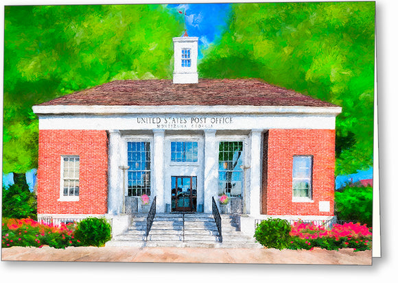 Post Office - Montezuma Georgia Greeting Card