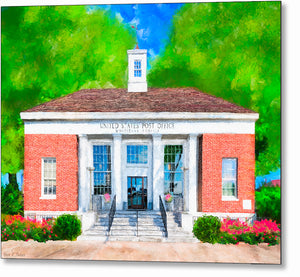 Post Office - Montezuma Georgia Metal Print