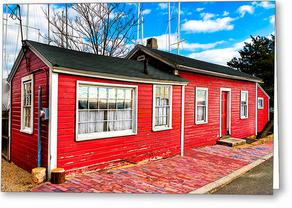 Red Fisherman's Cottage - Salem Massachusetts Greeting Card