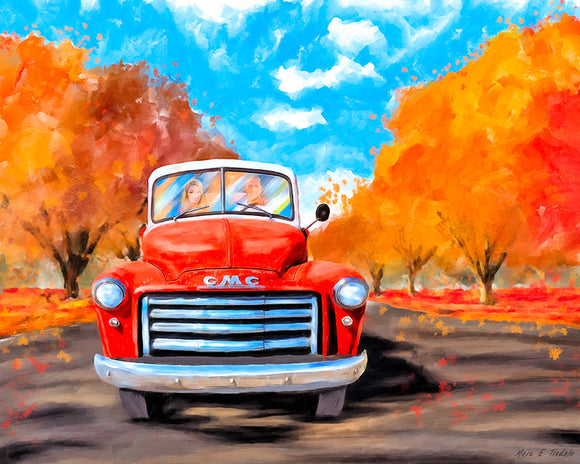 Red GMC Pickup - Classic Truck Art Print