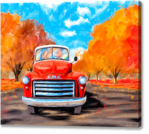Red GMC Pickup - Classic Truck Canvas Print