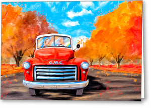 Red GMC Pickup - Classic Truck Greeting Card