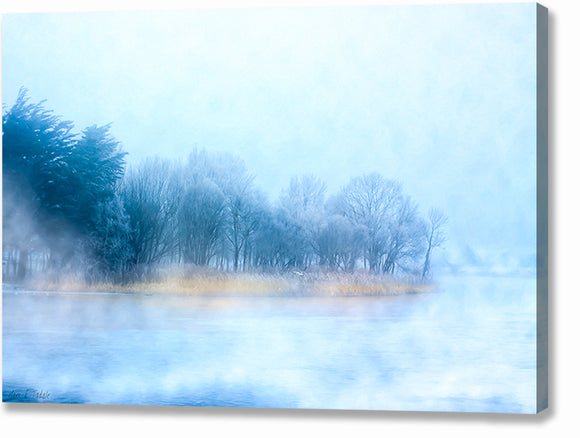 River Corrib - Foggy Galway Canvas Print
