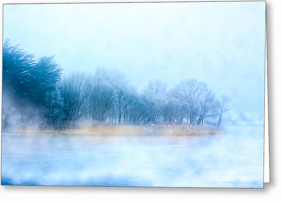 River Corrib - Foggy Galway Greeting Card