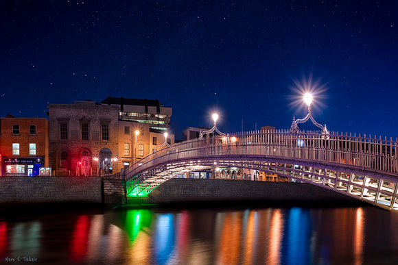 River Liffey At Night - Dublin Art Print