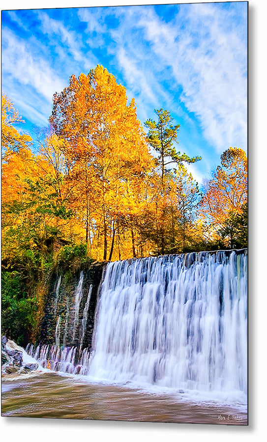 Roswell Mill Dam - Georgia Fall Color Metal Print