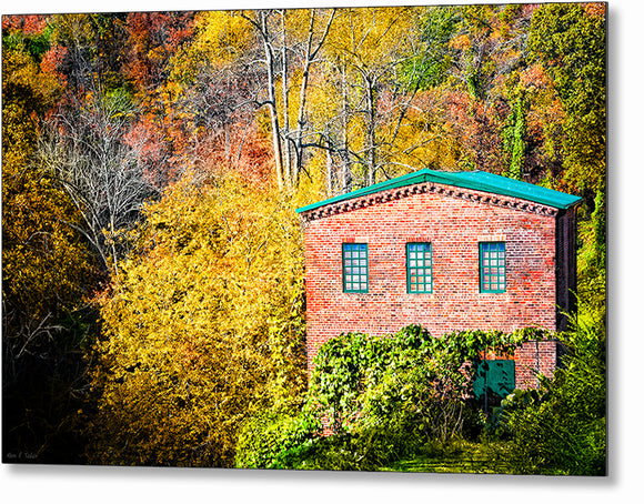 Roswell Mill - Georgia Fall Color Metal Print