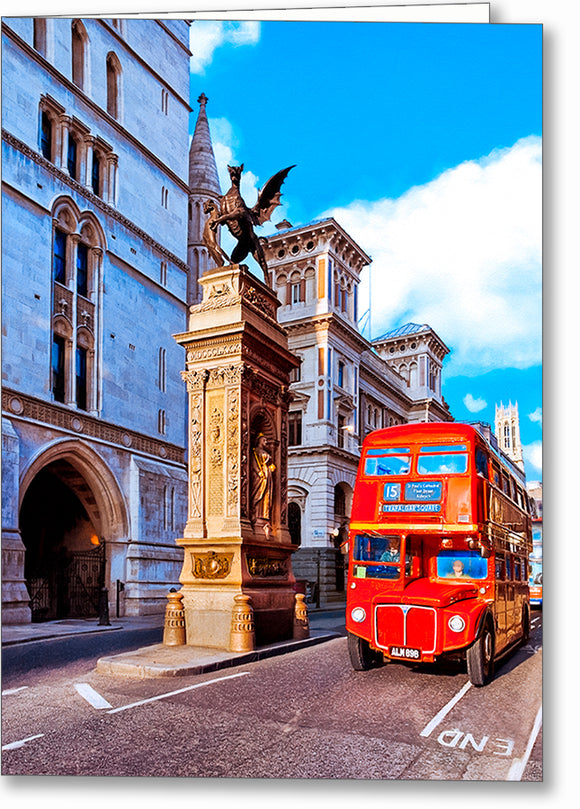 Routemaster Bus - London Greeting Card