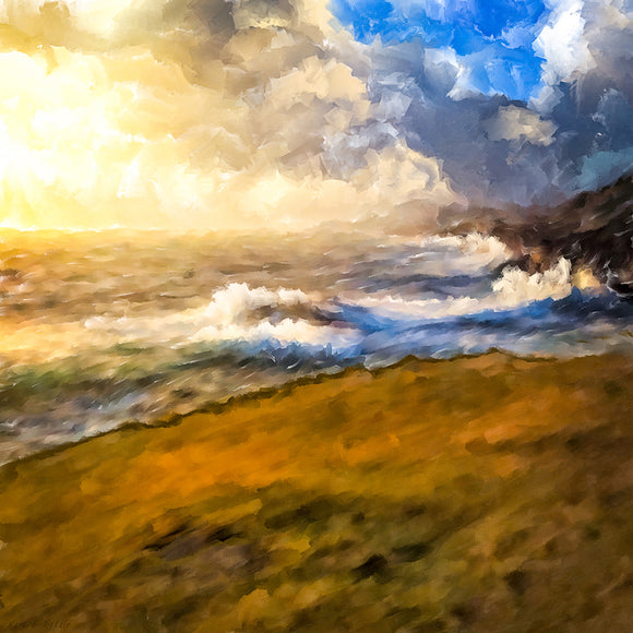 Rugged Coastal Landscape Art Print