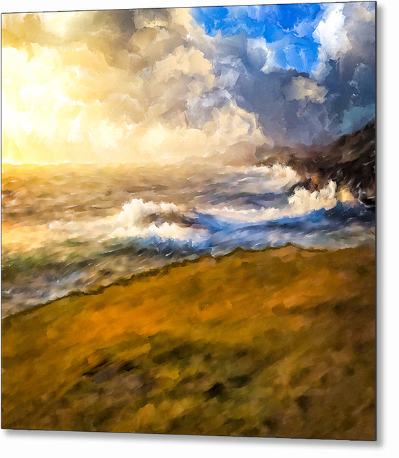 Rugged Coastal Landscape Metal Print