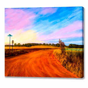 Rural Landscape Art - Georgia Sunset Canvas Print