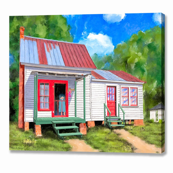 Rustic Cottage - Montezuma Georgia Canvas Print
