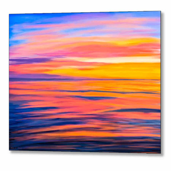 Sea of Cortez Sunset - Rocky Point Mexico Metal Print