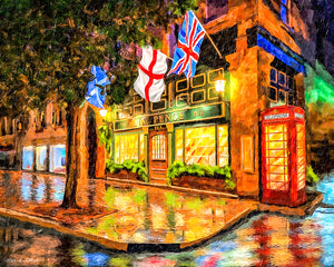 Six Pence Pub - Savannah Georgia Art Print
