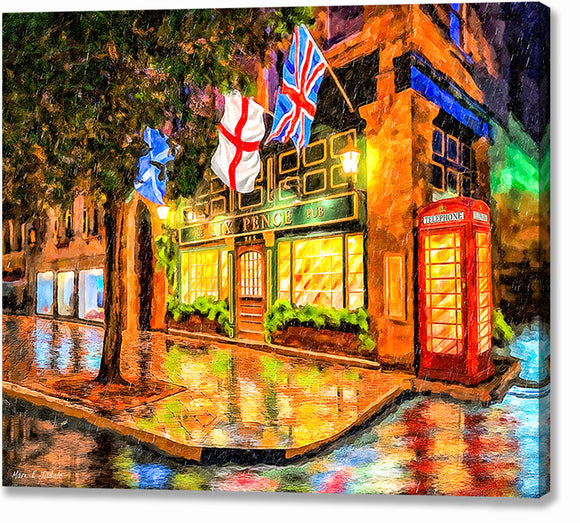 Six Pence Pub - Savannah Georgia Canvas Print