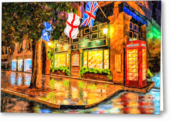 Six Pence Pub - Savannah Georgia Greeting Card