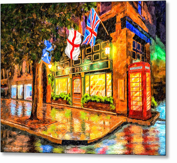 Six Pence Pub - Savannah Georgia Metal Print