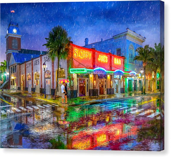 Sloppy Joe's Bar - Historic Key West Florida - Canvas Print