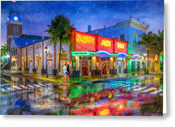 Sloppy Joe's Bar - Historic Key West Florida - Greeting Card