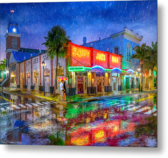 Sloppy Joe's Bar - Historic Key West Florida - Metal Print