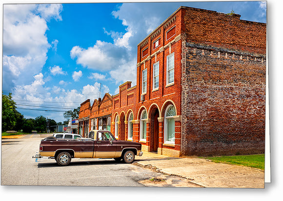 Small Town Life - Leary Georgia Greeting Card