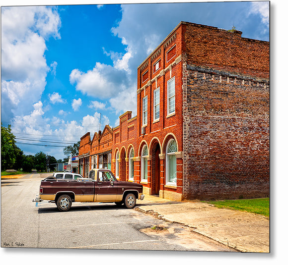 Small Town Life - Leary Georgia Metal Print