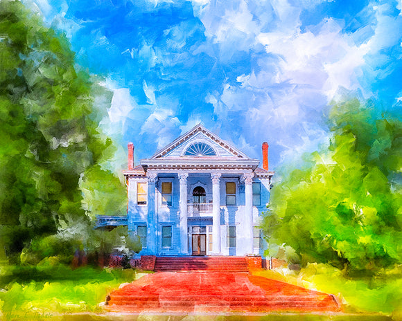 Southern Charm - Greek Revival Home Art Print