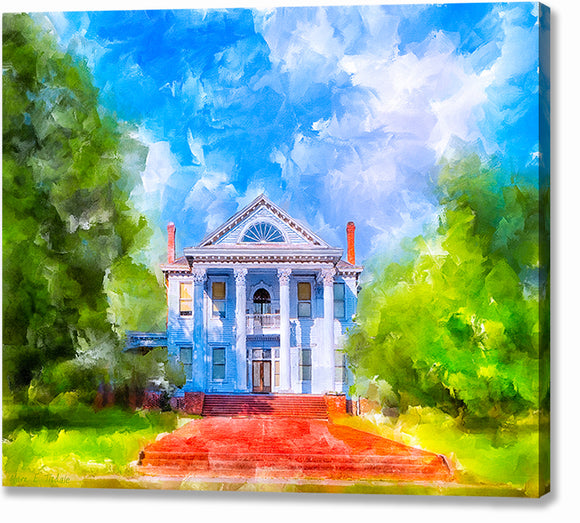 Southern Charm - Greek Revival Home Canvas Print